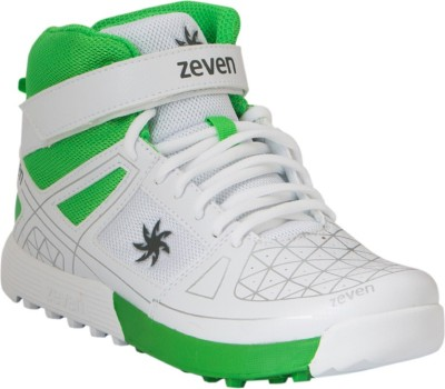 Zeven Blaze Cricket Shoes(White, Green)