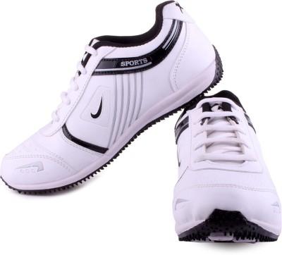 Xpert Commando 6 White Black Running Shoes
