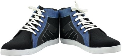 Alpha Man Zig Zack Blue And Black Sneakers