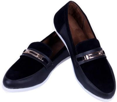 Goyal Black Trendy Loafers