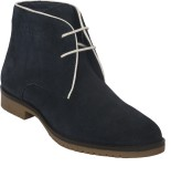 Cizmar Chukka Boots In Blue Suede Boots ...