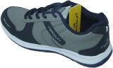 Stepin Soles Running Shoes (Grey, Blue)