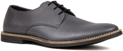 Nudo Plain Grey Corporate Casual Shoes