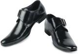 Shoe Island Exotic Black Monk-Strap Form...