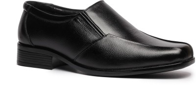 Feather Leather Genuine Leather Black Formal Shoes 035 Slip On Shoes