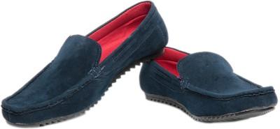 Pede Milan Wov Style Dark Blue Loafers