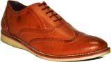 Fashion67 Classic Tan Leather Brogue Cas...