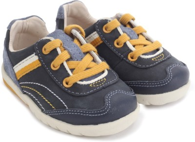 Clarks SoftlyNile Fst Navy Combi Lea Casual Shoes