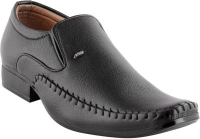 Smart wood 1802 Black Slip On Shoes
