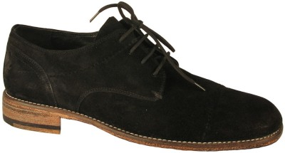 Salt N Pepper Ray Black Suede Lace Up Casual Shoes