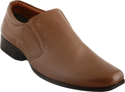 Cizmar Cizmar Formals - Slip-on Shoes in Tan Leather Slip On Shoes