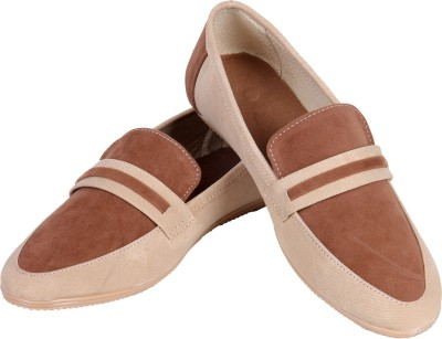 Goyal Beige Denim Loafers