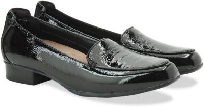 Clarks Keesha Luca Black Pat Slip On shoes(Black)