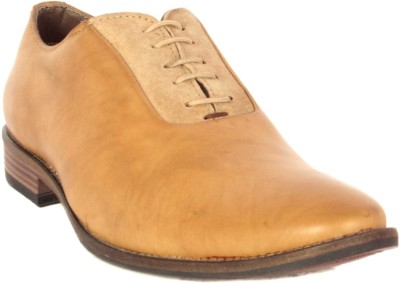 Merashoe MSF8019-Camel Lace Up Shoes