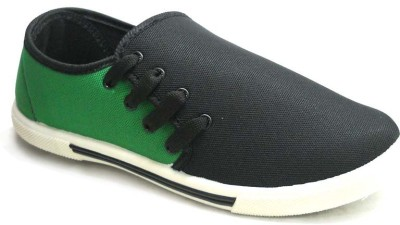TerraVulc Green and Black Canvas Shoes