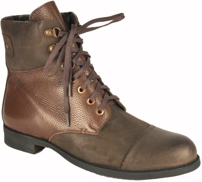 Salt N Pepper 13-275 Oldmonk Dark Brown Brown High Ankle Lace Up Boots Boots