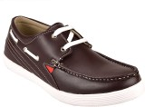 Chamois Casual Boat Shoes (Brown)