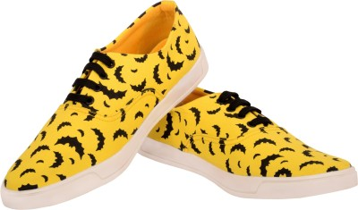 Invezo Impression Printed Yellow Batman Canvas Shoes