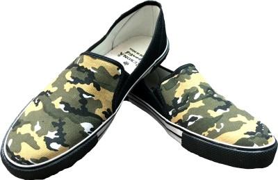 Rexona Kicker-Army-Olive Casual Shoes