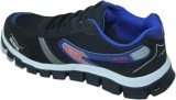 Stepin Soles Running Shoes (Black, Blue)