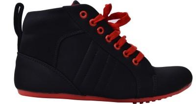 Fashion Feet Stylish Sporty Sneakers(Black, Red)