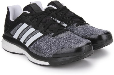 Adidas SUPERNOVA GLIDE 8 M Running Shoes(Black, White)