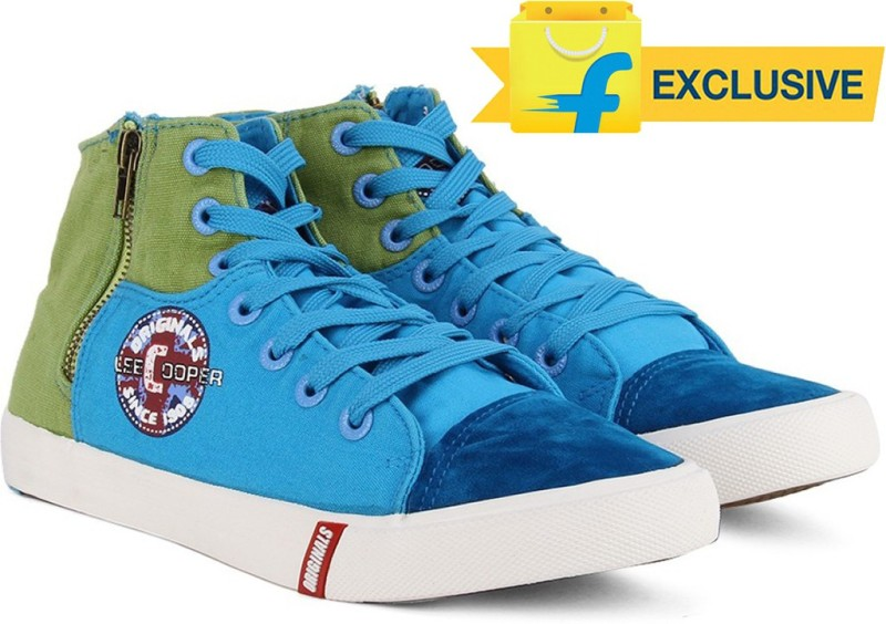 Lee Cooper Men Mid Ankle Canvas SneakersBlue
