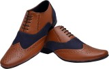 Bxxy British Brogue Lace Up Shoes (Blue,...