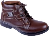 Porcupine Laced Boots (Brown)
