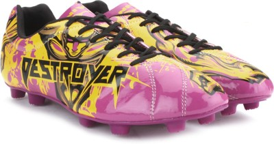 Nivia Destroyer Men Football shoes(Purple, Yellow) at flipkart