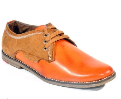 Big Wing Awesome Tan Lace Up Shoes
