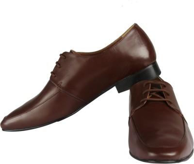 Claude Lorrain Brown Derby Lace Up Shoes