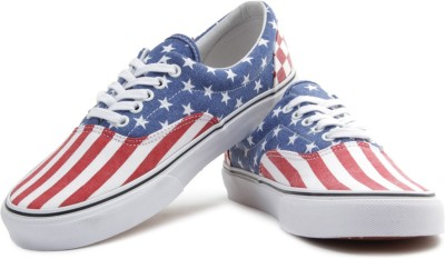 VANS Men Sneakers(Blue, Red, White)
