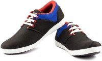 Big Wing Black Blue Canvas Shoes(Black, Blue)