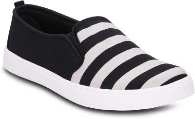 Kielz Kielz Ladies Black Slip On Canvas Shoes Canvas Shoes(Black)