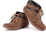 Ferraiolo Designer Casual Shoes (Brown)