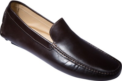 Zovi Brown Stan Driver Grain Finished Premium Leather Shoes Corporate Casuals