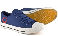 DeVEE Always Smile 2.0 Navy Blue Canvas Shoes(Navy, Blue)