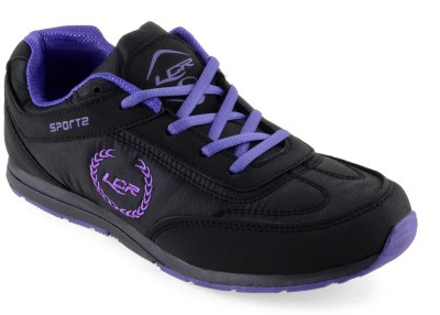 Lancer Walking Shoes(Black, Purple)
