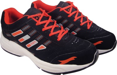 Action Synergy 7141 Black/Red Sports Walking Shoes