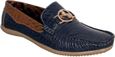 Oora Wrinkle Blue Loafers