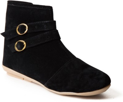 Babes Women Black Ankle Boots