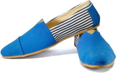 FUNK Gish Blue and White Loafers