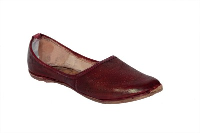 Panahi Maroon Genuine Leather Slip On Jutis Casuals, Party Wear