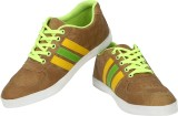 Cognisol Striped Canvas Shoes (Brown, Re...