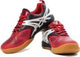 Balls Badminton Shoes (White, Red, Navy)