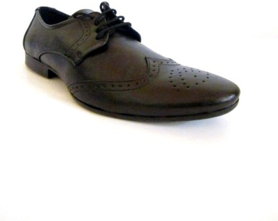 A Cheval Formal Black Lace Up Shoes
