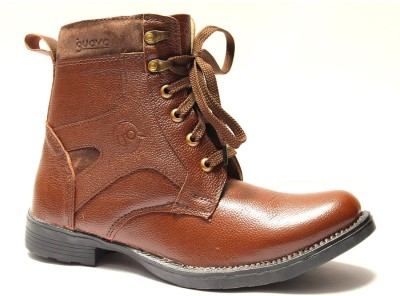 Guava Guava Stylish Brown leather Boots(Brown)
