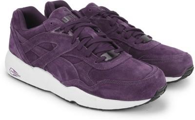 Puma R698 Allover Suede Men Mid Ankle Sneaker(Black, Purple, White)