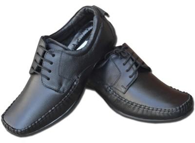 Fashion67 Elegant Black Lace Up Shoes